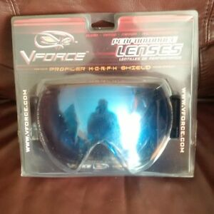 New VFORCE Profiler paintball mask replacement lens Mirror Blue