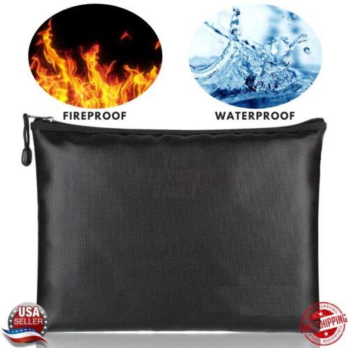 Fireproof Waterproof Document Bag Money Cash File Envelope Safe Zip Case Pouch