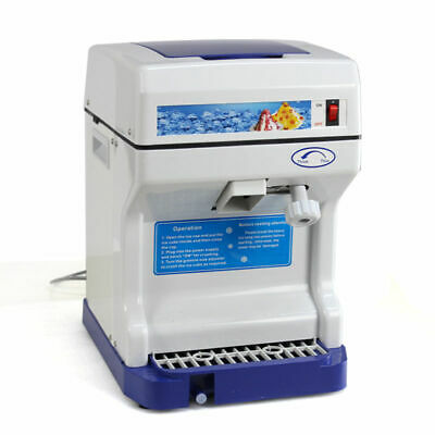 Tabletop Electric Ice Shaver Machine Ice Crusher Shaved Ice Snow Cones Maker-