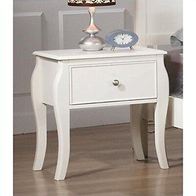 منضدة جانب السرير جديد Coaster Night Stand White- 400562 NIGHTSTAND NEW
