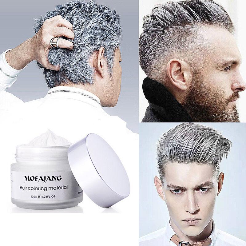 Men Women Silver Ash Grey Hair Wax Hair Pomades Natural Hair