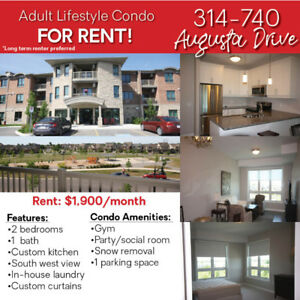 Long Term Adult lifestyle Condo Rental #314