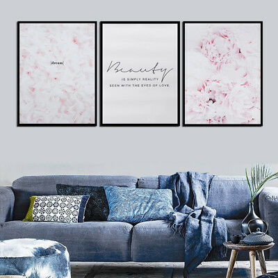 Feather Flower Pink Canvas Nordic Posters Floral Prints Wall Art Painting Decor](Feather Wall Art)
