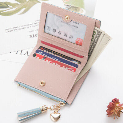 Women Short Small Money Purse Wallet Ladies Leather Folding Coin Card Holder T