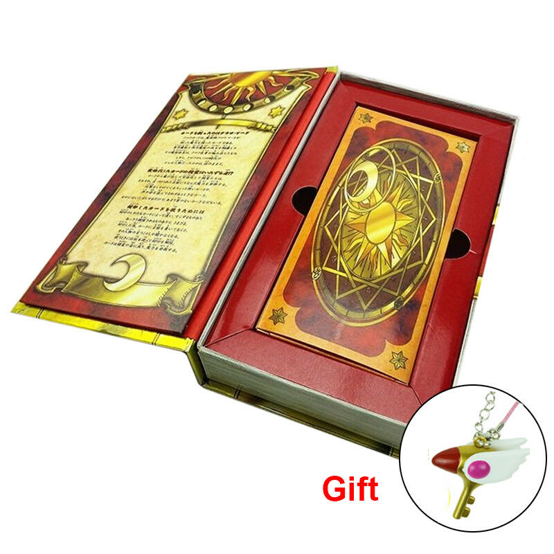 Anime 56pcs Cardcaptor Sakura Clow Cards Sets Gold Clow Book Box Christmas Gift