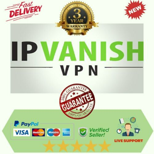 IP Vanish VPN - Account 36 Months - Warranty {NOT SHARED VPN }