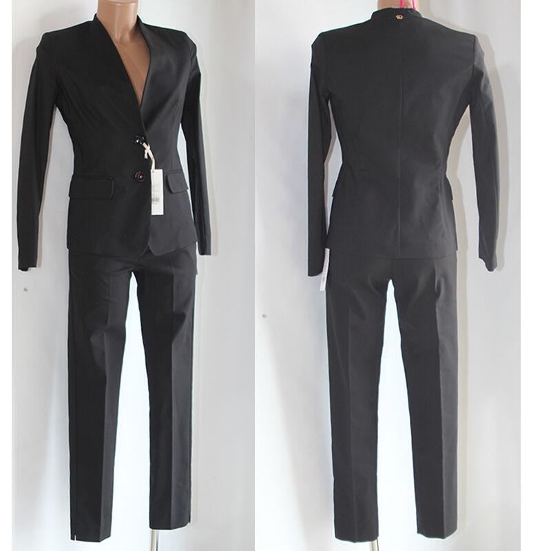 Abito Vestito donna Tailleur giacca pantalone 42 Giorgia e johns nero completo