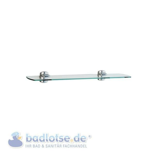 SMEDBO CABIN glänzend Glasablage 60 cm Bad-Wand-Konsole Glasregal CK347