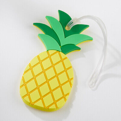 Pineapple Green Yellow Tropical Vacation Luggage Tag Travel Gift MW36007 ()