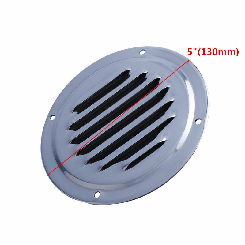 2PCS Round Louver Vent 5 inch Stainless Steel Boat Vent for//Yacht//RV//Courtyard