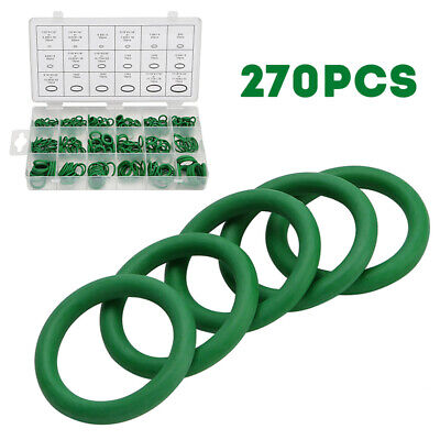 270 PIECES AIR CONDITIONING O RING ASSORTMENT SET GREEN AIR CON 18 SIZES
