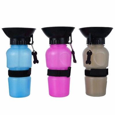 - Pet Dog Cat Portable Plastic Feeding-Bowl Travel Water Bottle Dispenser Feeder