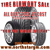 TIRES FOR SALE,  EVERYTHING IN STOCK AT COST