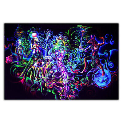 D238 Blacklight Paintings Psychedelic Abstract Art Trippy Poster Print Decor