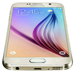 Galaxy s6 gold 34gb Bell Virgin