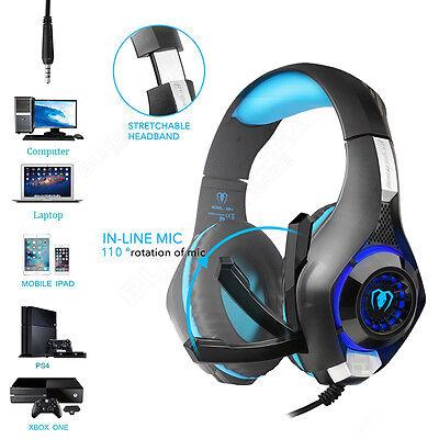 ing headset headphone stirnband kopfhörer w /led licht&mikro (Stirnband Lichter)