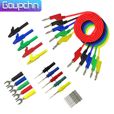 Goupchn Stackable Banana Plug Copper Test Lead Kit For Multimeter Automotive