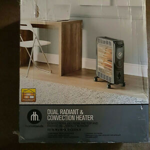 Brand new Hometrends Dual Radiant and Convection Heater