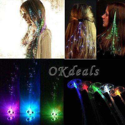Fiber Optic Mohawk (LED Light Up Fiber Optic Multi Color Mohawk Glow Hair Party Rave Flashing)