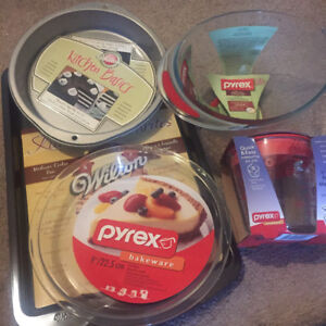 Selection of Wilton and Pyrex bakeware. All new.
