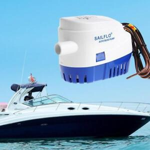 1100GPH-Boat-12V-Marine--Submersible-Bilge-Auto-Water-Pump-Float- FREE SHIPPING
