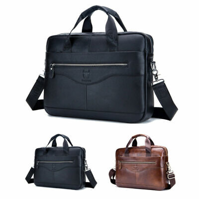 Leder Business Aktentasche (Herren Aktentasche aus Leder Business Handtasche Kuriertasche Laptop Tasche)