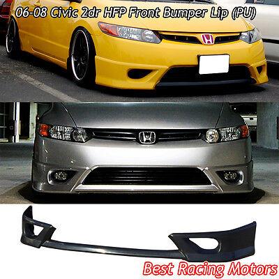 HFP Style Front Bumper Lip (Urethane) Fits 06-08 Honda Civic covid 19 (Oem Style Front Bumper coronavirus)
