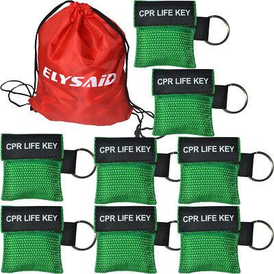 100 stücke Einwegventil CPR Masken CPR Gesichtsschutz Erste Hilfe Training Grün ()