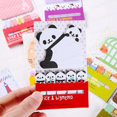 Panda Family Memo Sticky Note Set - Panda Cubs Memo Bookmark Sticky Notes
