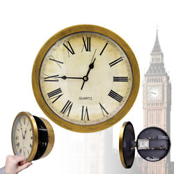 Wall Clock Safe Hidden Secret Jewelry Security Money Cash Compartment Stash Box