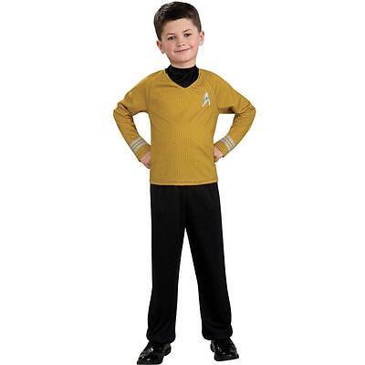 Star Trek CAPTAIN KIRK Yellow Uniform Fleet Halloween Costume 8/10 MED Child - Starfleet Uniformen Kostüm