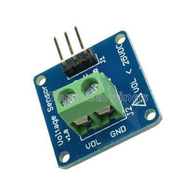 Dc Voltage Sensor Module Voltage Detector Divider For Arduino Dg New