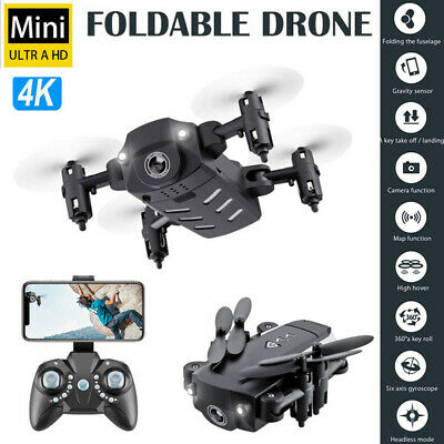 Mini Drone X Pro 360° Flip Foldable Quadcopter WIFI FPV 4K 1080P HD Camera w/RC