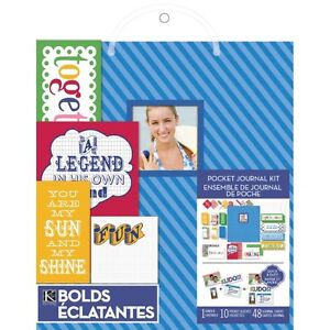NEW: K&Company Pocket Journal and Scrapbook Kit, 8.5 by 11-Inch