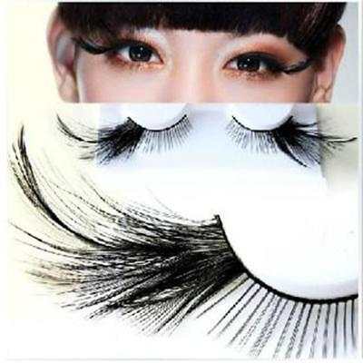 Fake Eyelashes Feather Long False Eyelashes For Costume Cosplay Party Lashes H - Feather Fake Eyelashes