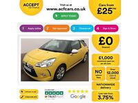 Citroen DS3 1.6e-HDi ( 90bhp ) Airdream DStyle FROM £25 PER WEEK !