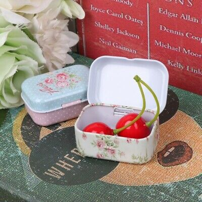Flower Tin Trinket Jewelry Coin Box Tinplate Storage Case Small - Small Tin Boxes