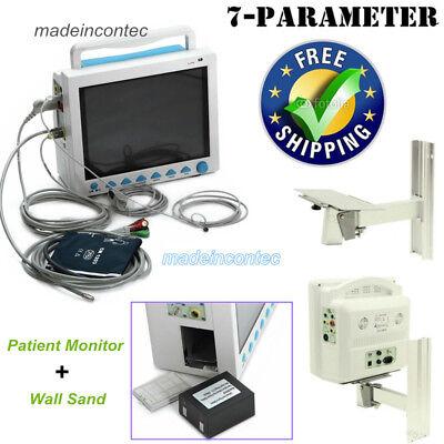 Portable Multi-parameter Vital Signs Patient Monitor Icuccu Machinwall Bracket