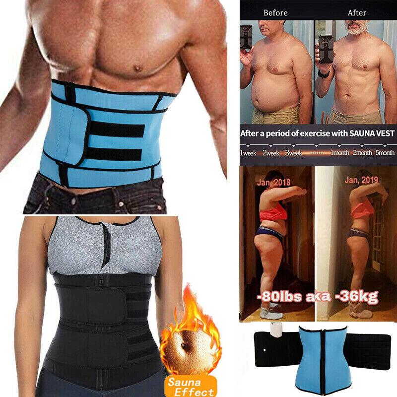 Women Men Fajas Sweat Body Shaper Waist Trainer Cinchers Ban