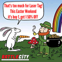Easter Fun At Battle City Laser Tag In Oshawa