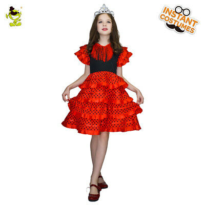 Kids  Spanish Girls Costumes Pretty and Elegant Dancer Fancy Dress for Party