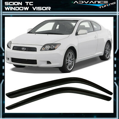 Fits 05-10 Scion TC Acrylic Window Visors 2Pc