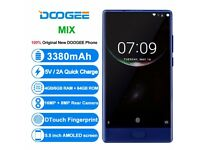 BRAND NEW-DOOGEE MIX 6GB-64GB FINGER PRINT ANDROID SMART PHONE (BETTER THAN IPHONE 7) S7 S8