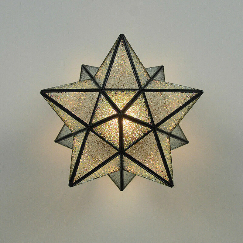 Details About Tiffany Bronze Star Flush Mount Ceiling Light Glass Shade Star Ceiling Fixtures