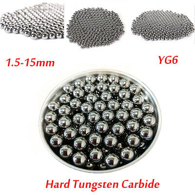 5x Tungsten Steel Ball Bearings Precision Beads Sintered Carbide Balls 1.5-15mm