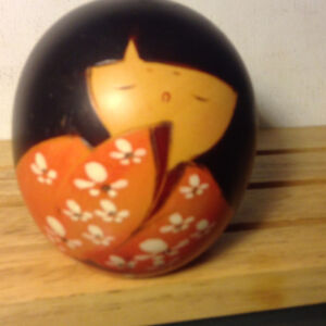 Vintage Japanese Wooden Kokeshi Doll, Collectible,