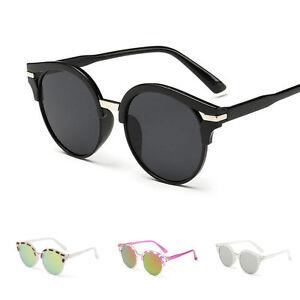 femmes r tro rond verres effet miroir lunettes de soleil cr ateur il teint ebay. Black Bedroom Furniture Sets. Home Design Ideas