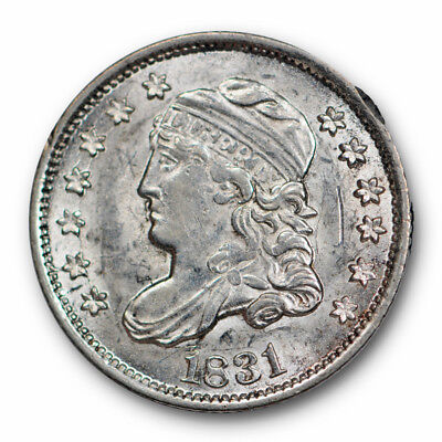 1831 Capped Bust Half Dime About Uncirculated to Mint State Lustrous #1710