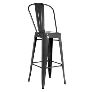 TOLIX STYLE METAL BAR STOOL DINING CHAIR RESTAURANT INDUSTRIAL