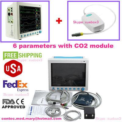 With Capnograph Etco2 Cms8000 Vital Signs Patient Monitormulti Parameter Contec